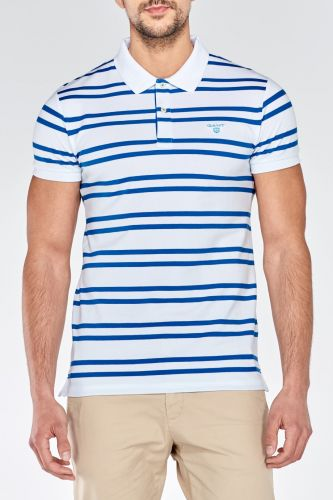 GANT TRICOLOR CONTRAST PIQUE SHORT SLEEVED RUGGER Polokošile