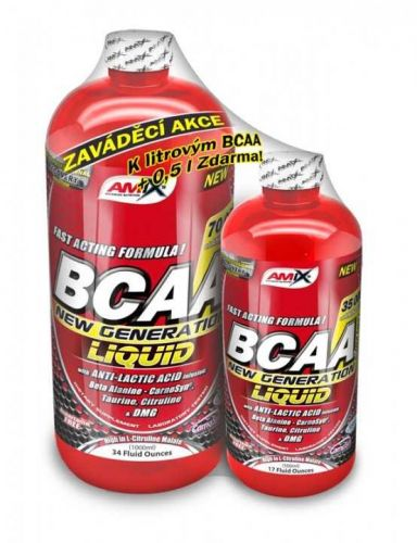 Amix BCAA New Generation Liquid red raspberry 1 l
