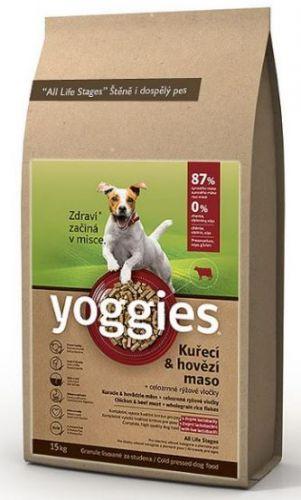 YOGGIES KUŘECÍ + HOVĚZÍ 4 kg