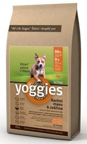 YOGGIES Active ZVĚŘINA + KACHNA 4 kg