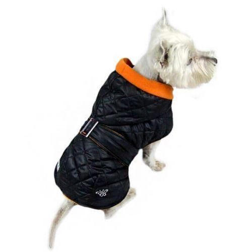 Zopet Bunda pro psa s oranžovou kapucí 24 cm cena od 0 Kč