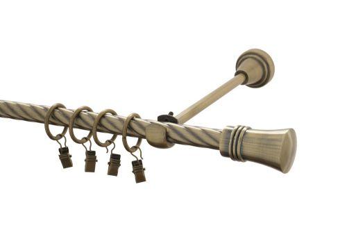 Hebr Capri kovová kroucená záclonová tyč