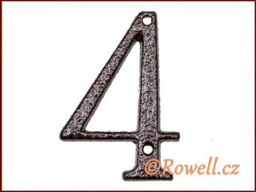 """Rowell C1 Číslice 80 mm """"""""4"""""""""""