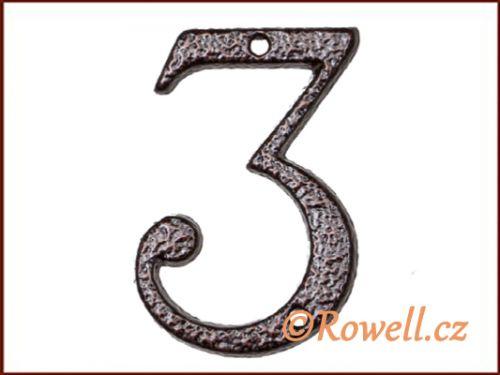 """Rowell C1 Číslice 80 mm """"""""3"""""""""""
