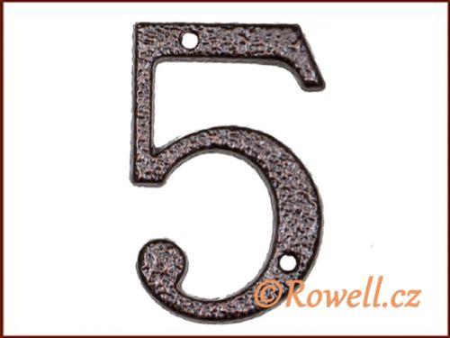 """Rowell C1 Číslice 80 mm """"""""5"""""""""""