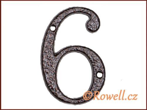 """Rowell C1 Číslice 80 mm """"""""6"""""""""""