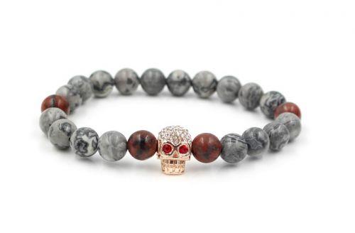 BRAUNYS Mramorový náramek Skull