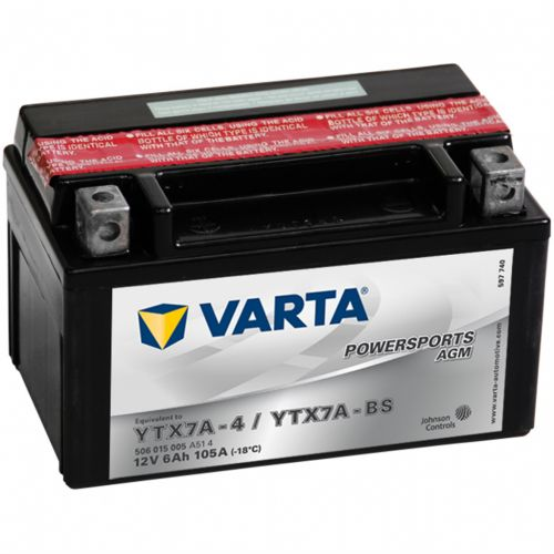 Varta Powersports AGM YTX7A-4 / YTX7A-BS
