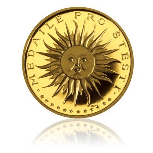 Česká mincovna Zlatá medaile štěstí proof
