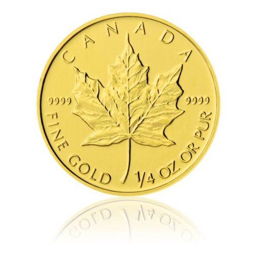 Česká mincovna Zlatá investiční mince 1/4 Oz 10 CAD Maple Leaf stand