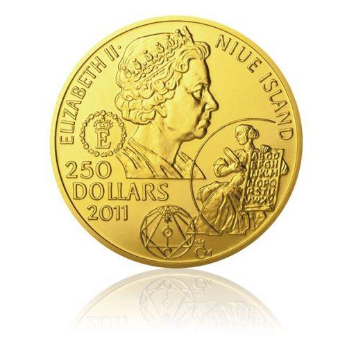 Česká mincovna Zlatá investiční mince 100dukát Jan Amos Komenský stand