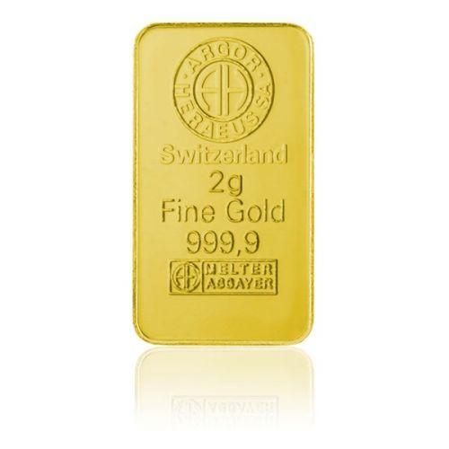 Česká mincovna Argor Heraeus Investiční zlatá cihla 2 g