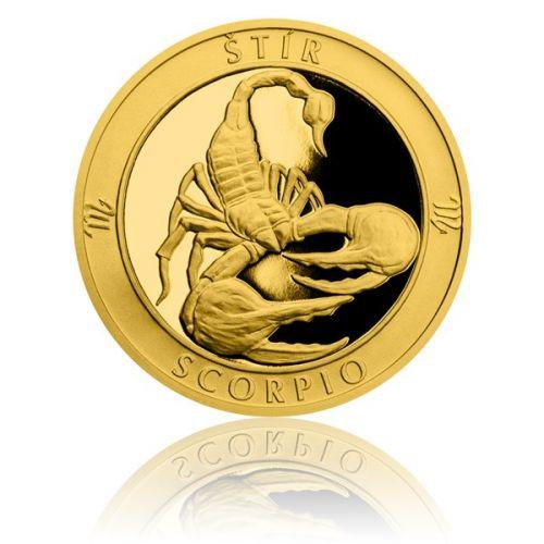 Česká mincovna Zlatý dukát Znamení zvěrokruhu s věnováním Štír proof