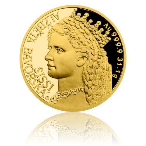 Česká mincovna Zlatá uncová mince Alžběta Bavorská Sissi proof