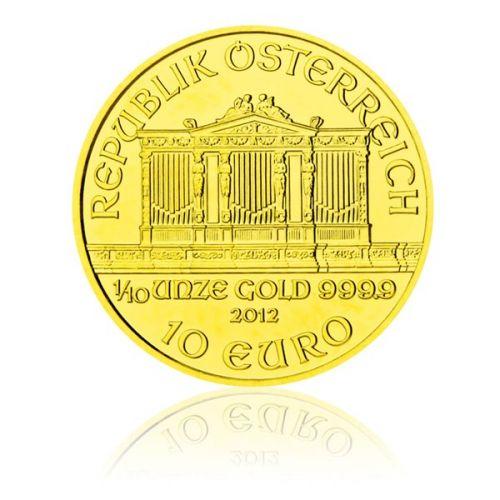 Česká mincovna Zlatá investiční mince 1/10 Oz 10 EUR Wiener Philharmoniker stand