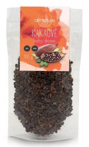 Allnature Kakaové boby drcené BIO/RAW 100 g cena od 59 Kč