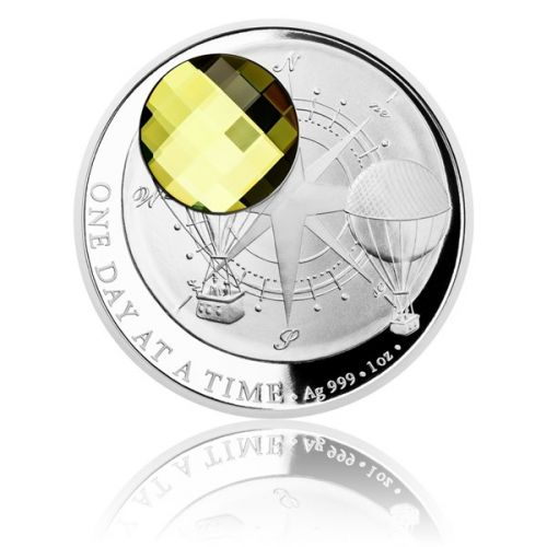 Česká mincovna Stříbrná mince CRYSTAL COIN - One Day at a Time Sahara proof