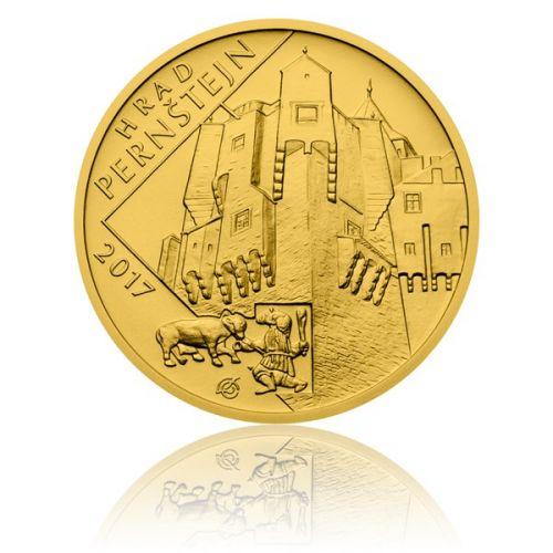 Česká mincovna Zlatá mince 5000 Kč 2017 Pernštejn stand