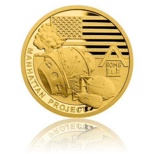 Česká mincovna Zlatá mince Válečný rok 1942 Projekt Manhattan proof