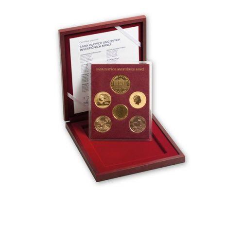 Česká mincovna Sada zlatých uncových investičních mincí v dřevěné etui