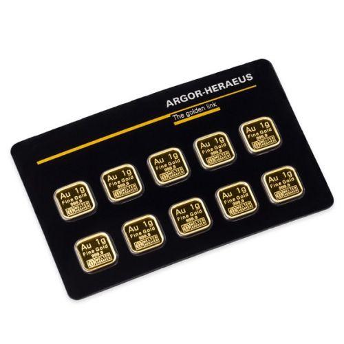 Česká mincovna Investiční zlatá cihla 10 x 1 g Multicard