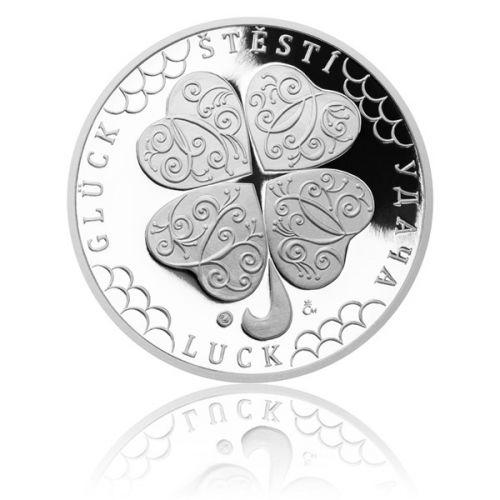 Česká mincovna Stříbrná medaile Čtyřlístek pro štěstí proof