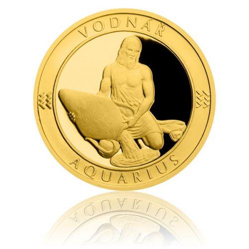 Česká mincovna Zlatý dukát Znamení zvěrokruhu s věnováním Vodnář proof