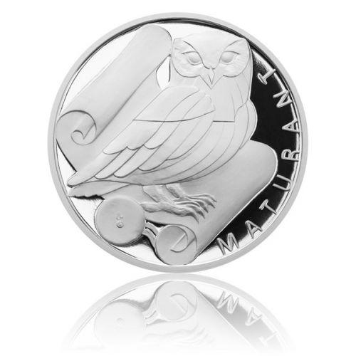 Česká mincovna Stříbrná titulární medaile Maturant s věnováním proof