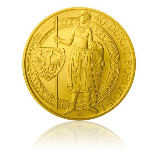 Česká mincovna Zlatá investiční mince 40dukát Bořivoje stand