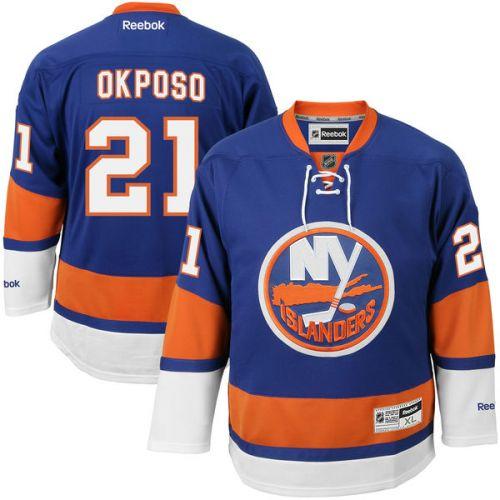 Reebok Kyle Okposo #21 New York Islanders Premier Jersey Home dres
