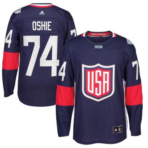 Adidas #74 T. J. Oshie Team USA Světový pohár 2016 dres