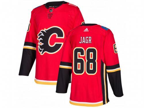 Adidas Jaromir Jagr #68 Calgary Flames adizero Home Authentic Pro dres
