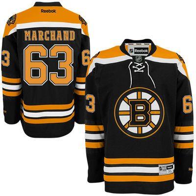 Reebok Brad Marchand #63 Boston Bruins Premier Jersey Home dres