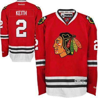 Reebok Duncan Keith #2 Chicago Blackhawks Premier Jersey Home dres