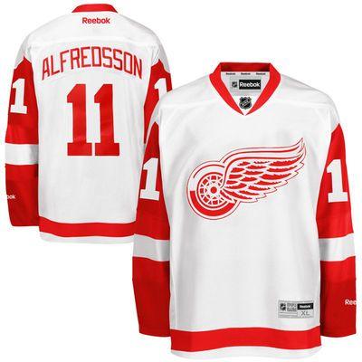 Reebok Daniel Alfredsson #11 Detroit Red Wings Premier Jersey Away dres