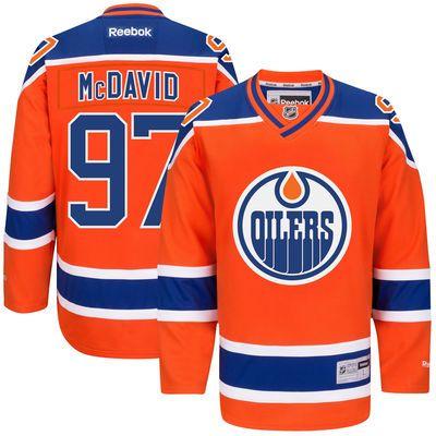 Reebok Connor McDavid #97 Edmonton Oilers Premier Jersey Third dres