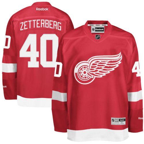 Reebok Henrik Zetterberg #40 Detroit Red Wings Premier Jersey Home dres