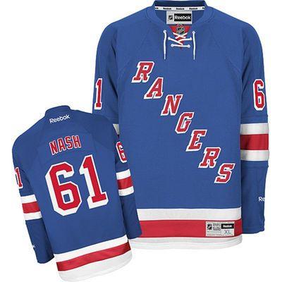 Reebok Rick Nash #61 New York Rangers Premier Jersey Home dres