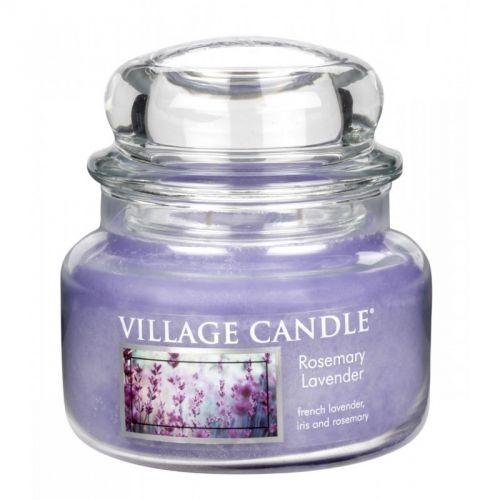 Village Candle Vonná svíčka ve skle Rozmarýn a levandule