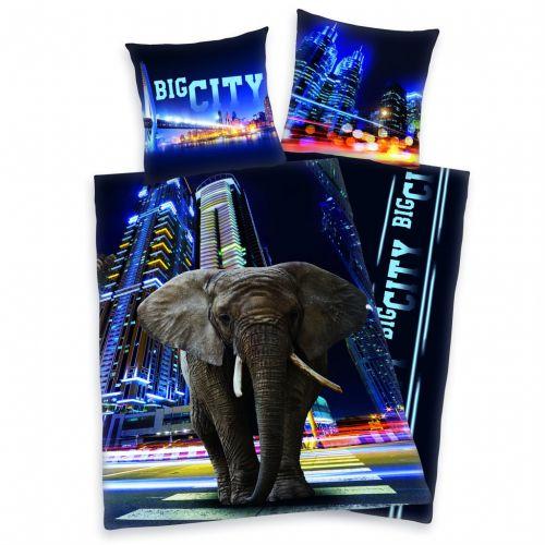 Herding Big City Elephant bavlněné povlečení