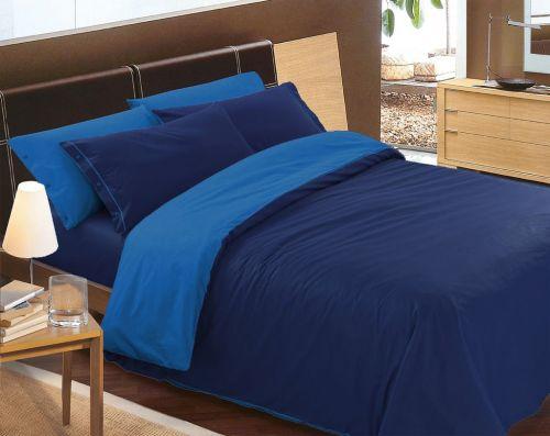 Gipetex Natural Dream LUX Doubleface světle/tmavě modré bavlněné povlečení