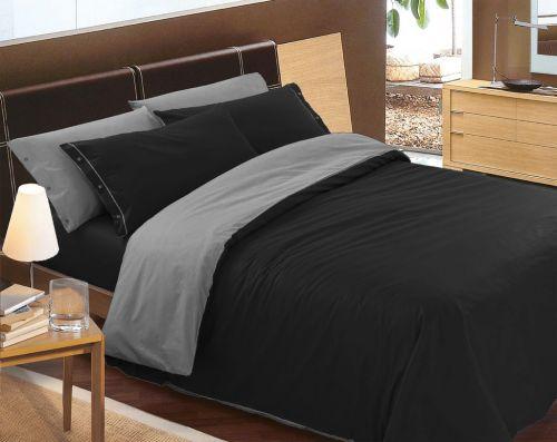 Gipetex Natural Dream LUX Doubleface černo-šedé bavlněné povlečení