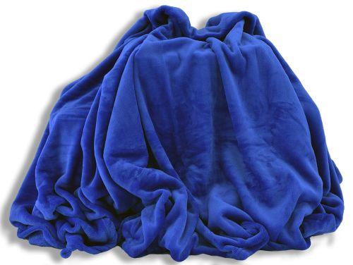 Homeville mikroplyšová modrá deka