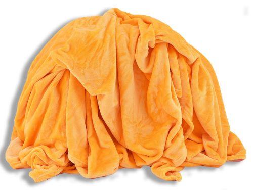 Homeville mikroplyšová žlutá deka
