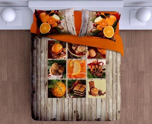 Gipetex Natural Dream Canella pomeranč & hřebíček bavlněné povlečení