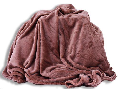Homeville mikroplyšová světle hnědá deka