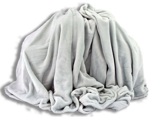 Homeville světlě šedá mikroplyšová deka