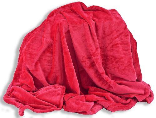 Homeville červená mikroplyšová deka