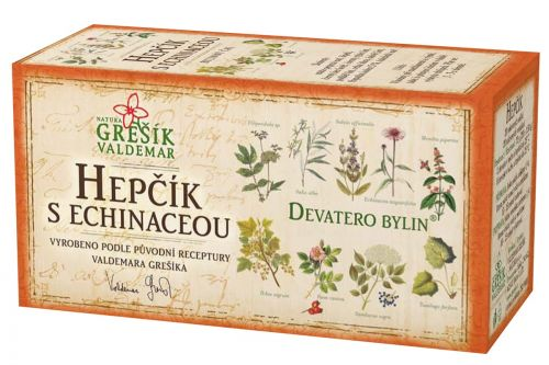 Grešík Devatero bylin Hepčík s echinaceou  20x1,5 g cena od 35 Kč