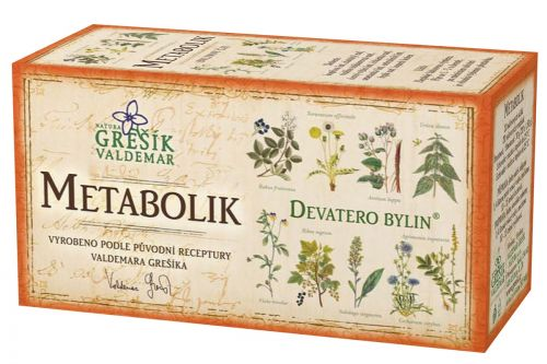 Grešík Devatero bylin Metabolik čaj 20x1,5 g cena od 37 Kč